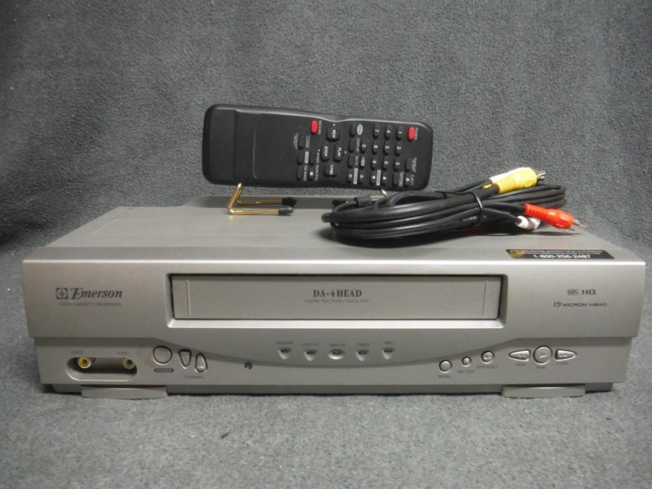 Emerson EWV404 VCR With Remote Fully Refurbished and Tested.