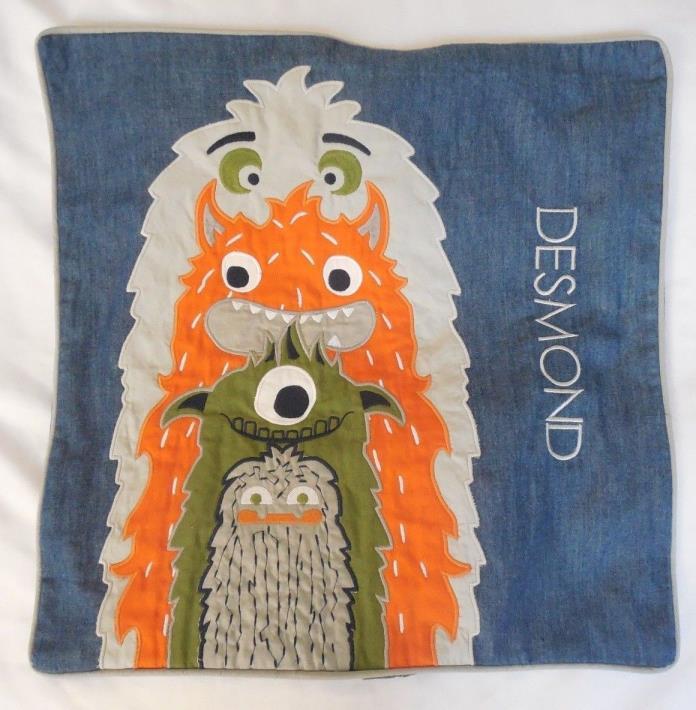 Pottery Barn Kids Monster Decorative Pillow Sham NWOT