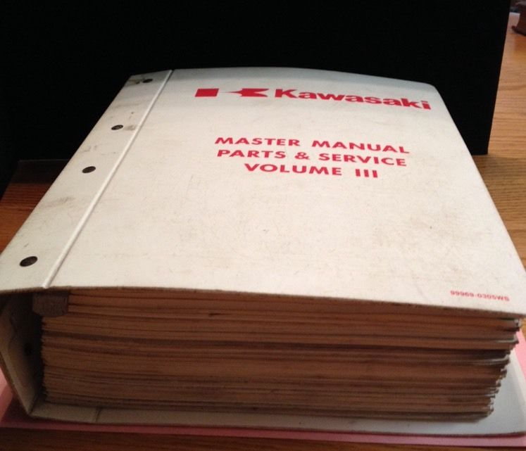 Kawasaki Master Manual Parts And Service Manual (B6)