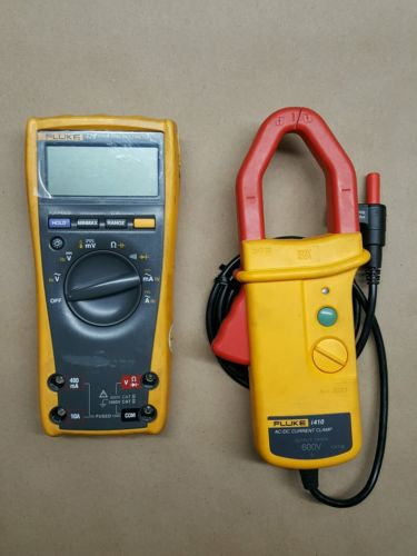 Fluke 179 True RMS Multimeter/ Fluke i410 AC/DC Current Clamp With Accessories