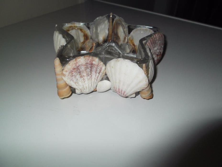 STAR SHAPED SEA SHELL DECORATED DISH