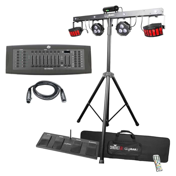 CHAUVET DJ GigBAR 2 Complete Effect Light System w ADJ DMX Operator Controller