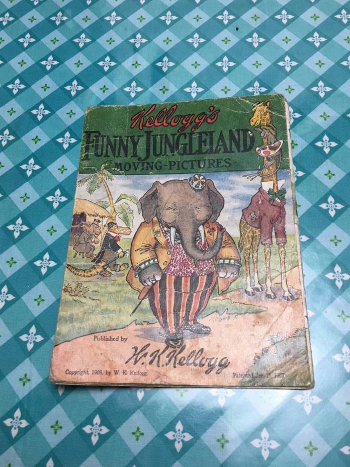 Antique(1909) Kellogg's(Advertising)Child's Moving Pictures Book