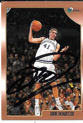 Dirk Nowitzki Autographed Rookie Card, Dallas Mavericks 1999 Topps NBA Card #154