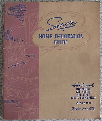 Vintage Sewing Book Singer Home Decoration Guide Drapes Slip Covers 1940