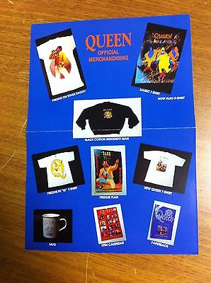 QUEEN 1991-92 OFFICIAL INTERNATIONAL FAN CLUB MERCHANDISE SHEETS LOT OF 10