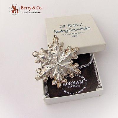 Gorham 1973 Christmas Snowflake Ornament Sterling Silver