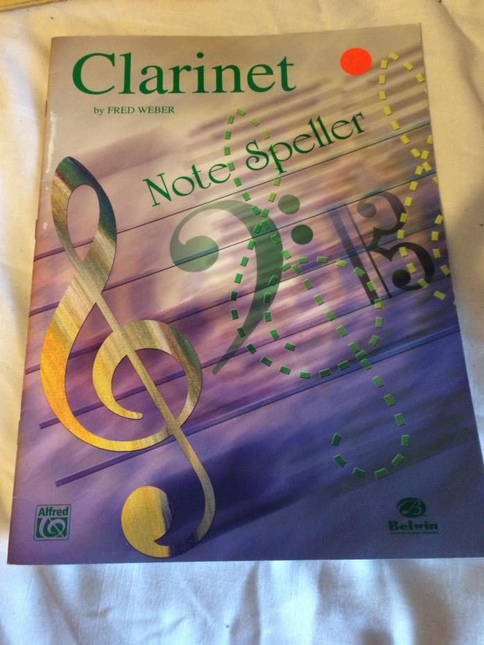 Clarinet Book--NOTESPELLER Clarinet (EL00448) by Fred Weber Book