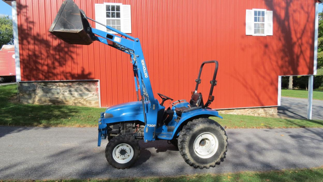 1999 NEW HOLLAND TC33 4X4 COMPACT UTILITY TRACTOR W/ LOADER 33HP DIESEL 495 HRS