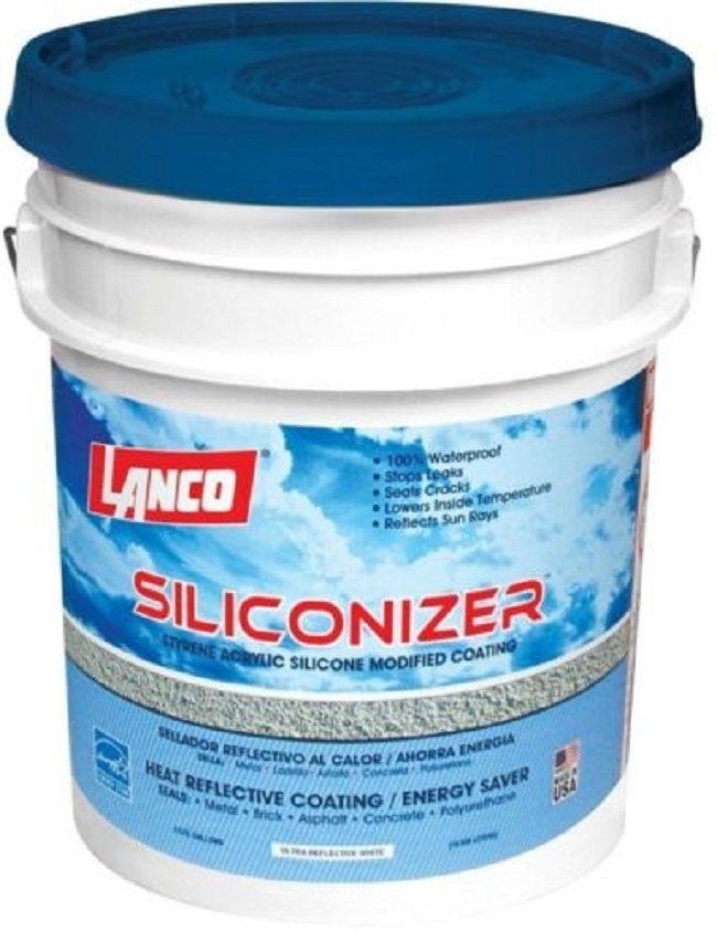 Roof Sealer Silicone 5 Gallon RV Leak Sealant Seam Patch Waterproof Fast Drying