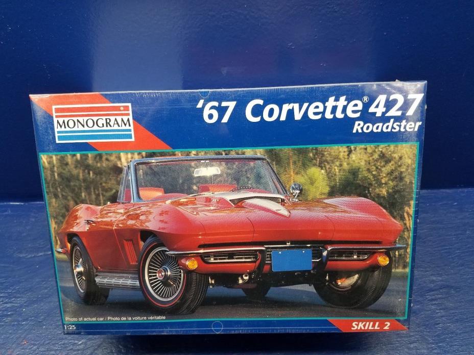 NEW Revell Monogram '67 Corvette 427 Roadster Model Kit 1/25 Scale Sealed