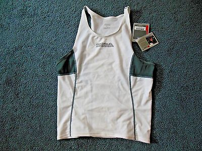 New Tag! Profile Design Mens Small Triathlon Cycling White Gray Shirt Jersey