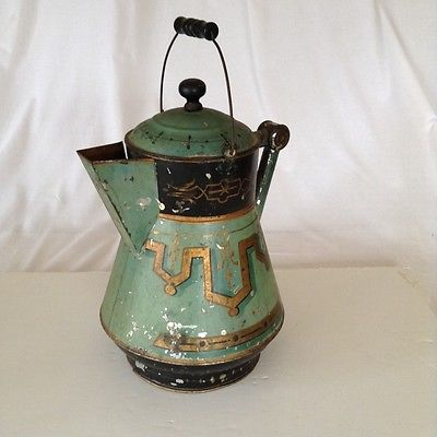 Antique Tin Coffee Pot