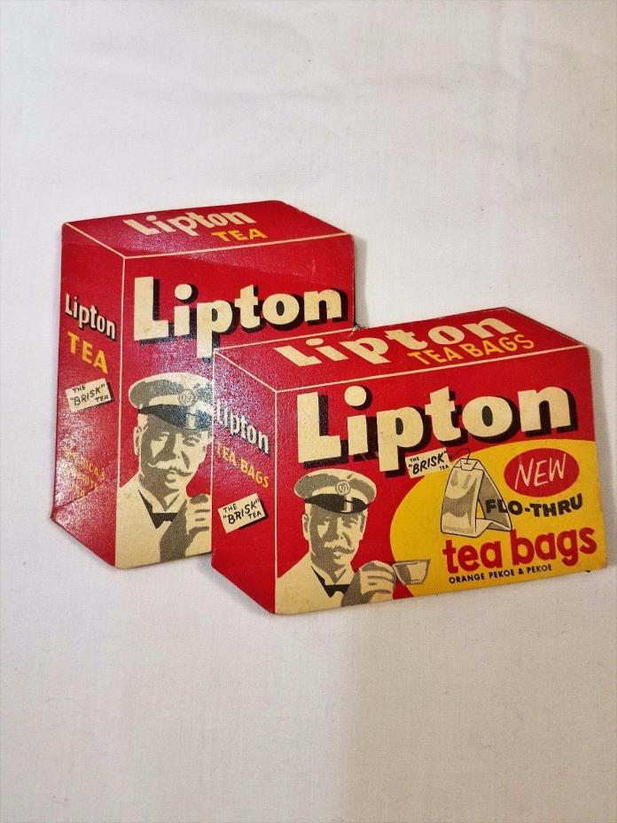 Vintage Lipton Tea Bag Needle Holder Book