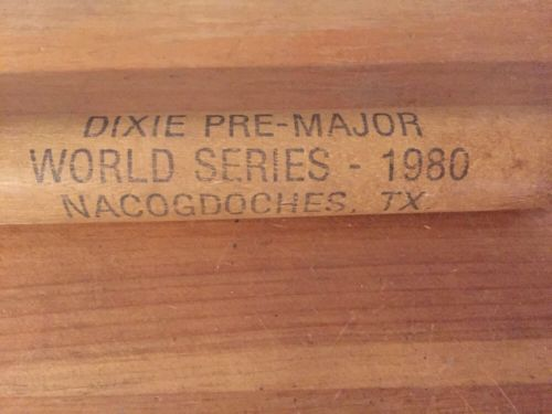 VINTAGE 1980 DIXIE PRE MAJOR WORLD SERIES MINI BASEBALL BAT NACOGDOCHES TEXAS
