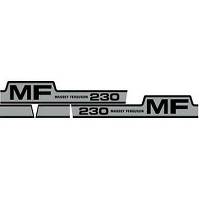 NEW 230 MASSEY FERGUSON TRACTOR HOOD DECAL KIT MF 230 GAS HIGH QUALITY DECALS