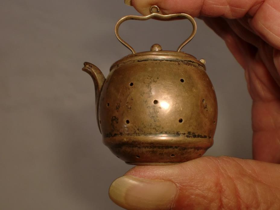 Antique Sterling Silver Webster Tea Ball Figural Teapot Shape