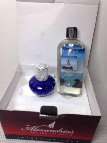 Fragrance Lamp Alexandria's Purple Oil Included SPA collection Zen Set
