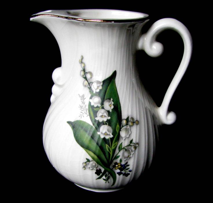 Royal Porcelain Italy Lily of the Valley Vintage Porcelain Creamer