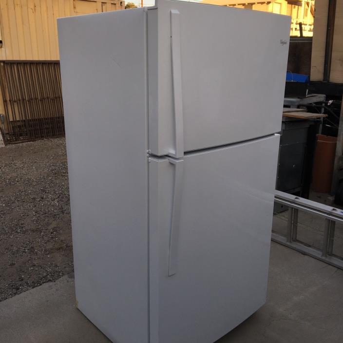 Whrillpool refrigerator, 21.3' capacity, white, reversible doors, 2016 model