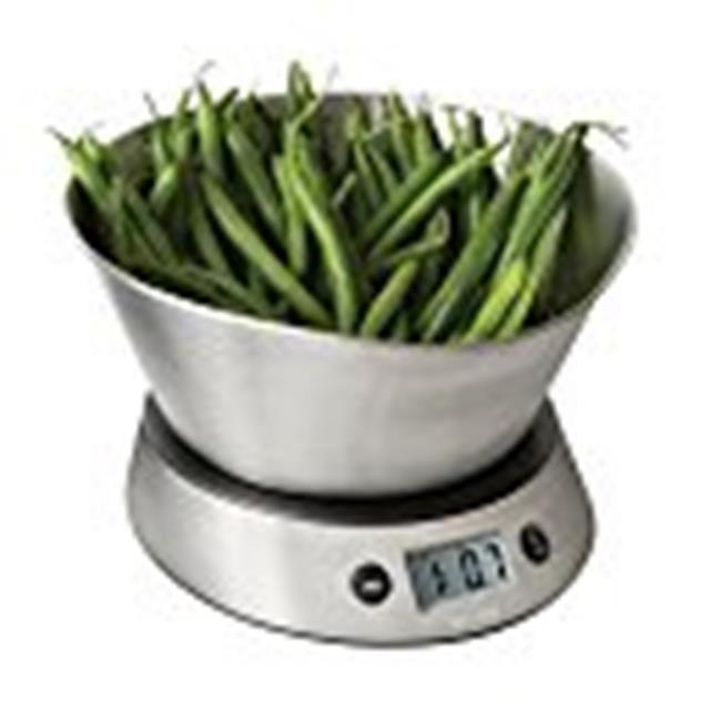Weighing Bowl Digital Kitchen Scale 11 lb. Capacity Scales Small Dining Counter