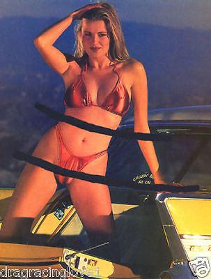 SUPER HOT Bikini Car Babe & 1957 Chevy Nomad 8x10