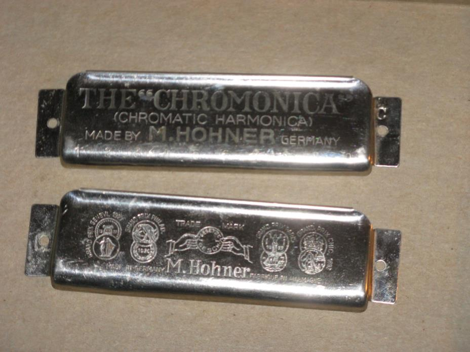LAST SET Vintage Cover Plate Hohner Chromonica/Chromatic Harmonica Parts Repair