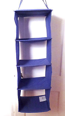 JALL by IKEA Blue Hanging Closet Organizer w/ 4 Compartments
