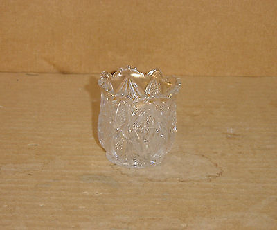 CRYSTAL GOLD PENNSYLVANIA TOOTHPICK CHILD SPOONER US GLASS 1897