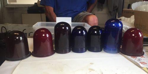 7 Glass Globe Screw On Light Fixtures - Police Fire Gamewell Alarm Box?