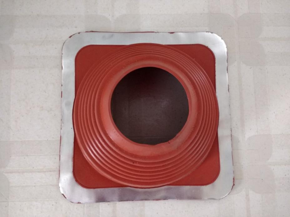#6 red silicone metal roof pipe flashing, high temp, square base, pipe Flashing