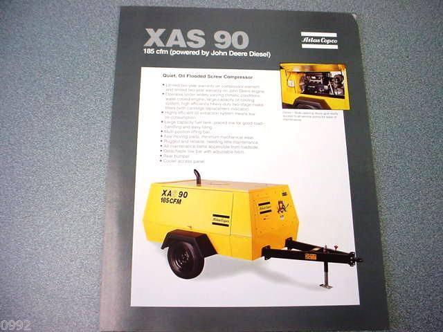 Atlas Copco XAS 90 Portable Compressor John Deere Diesel Brochure