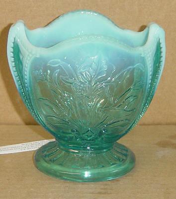 EAPG BLUE OPALESCENT WILD BOUQUET SPOONER DUGAN GLASS 1903