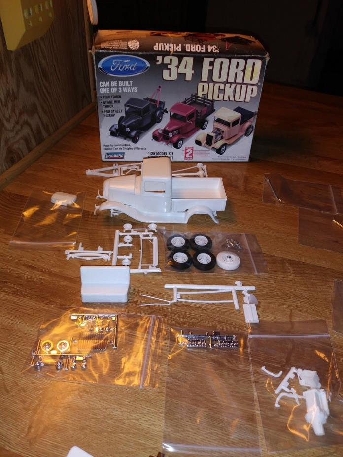 Lindberg 1934 Ford Pickup Kit 1/25- Can Be Built As A Stock truck Only