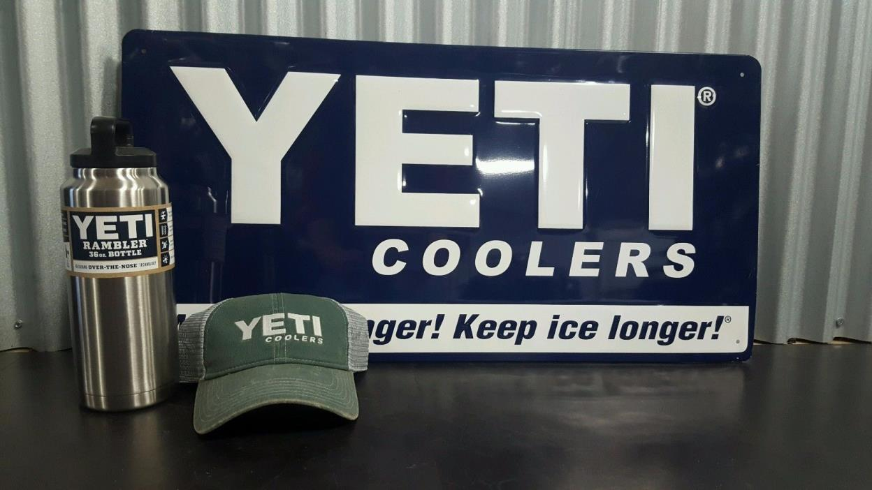 RAMBLER 36 OZ BOTTLE WITH FREE YETI HAT! FREE SHIPPING!