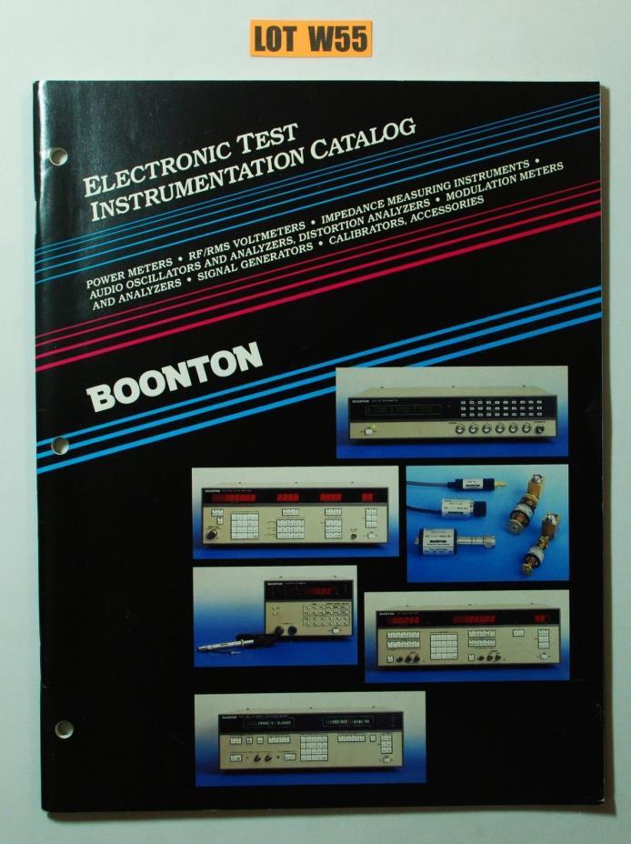 Boonton Electronic Test Instrumentation Catalog 1988 POWER METER SIGNAL LOT W55