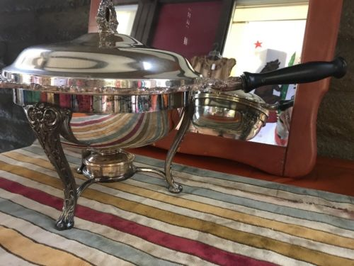 Vintage Silver Plated Chafing Dish