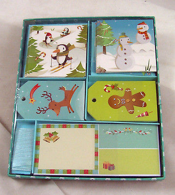 Penguins Snowman Gingerbread Cookie Christmas Gift Cards Tags & Stickers NEW