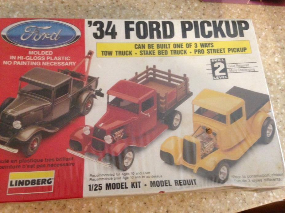 LINDBERG 34 FORD PICKUP TRUCK MODEL KIT 1/25 SCALE. Factory sealed