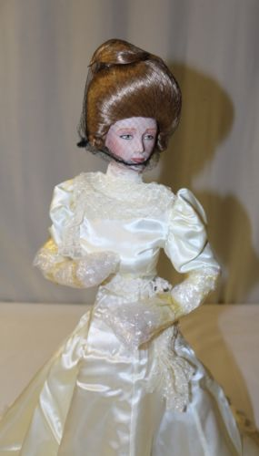 Franklin Heirloom Dolls Gibson Girl Bride Fine Bisque w/ Tag NO COA