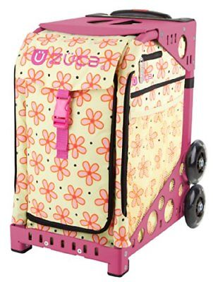 ZUCA Bag Flowerz Insert & Pink Frame w/ Flashing Wheels