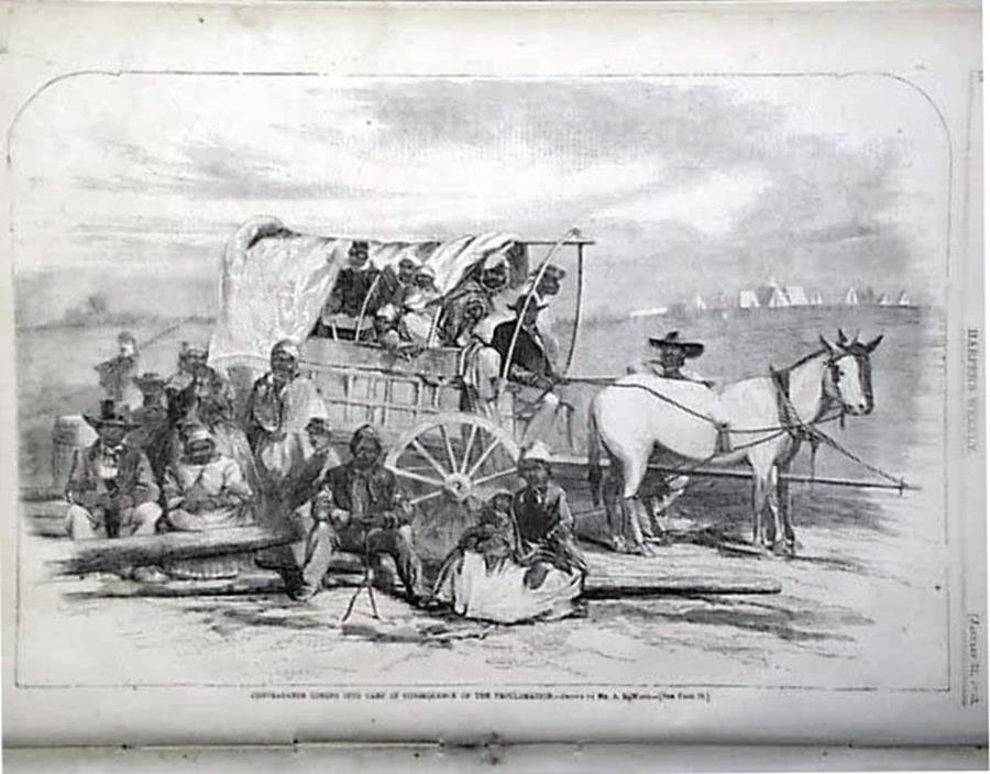 LINCOLN EMANCIPATION PROCLAMATION Slaves Murfreesboro Galveston Texas Charleston