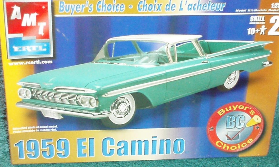 AMT 1959 CHEVY EL CAMINO PLASTIC MODEL KIT SEALED IN BOX 1/25