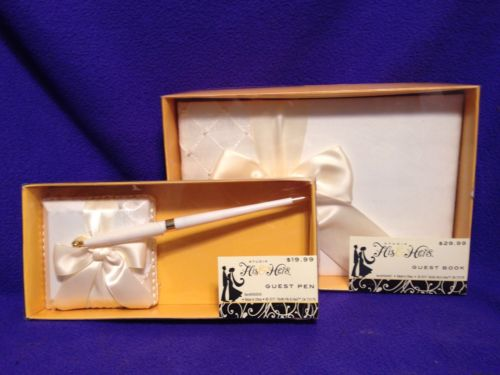 Guest Book And Pen Wedding Set