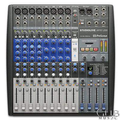 PreSonus StudioLive AR12 12-Channel Hybrid Mixer - STUDIOLIVE-AR12