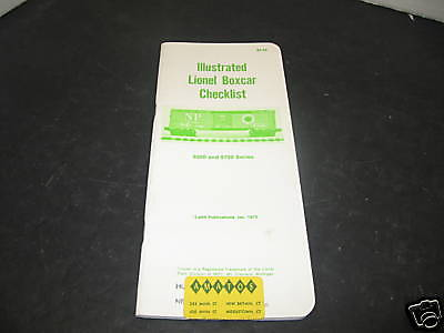 Ladd Publications Illustrated Lionel Box Car Check List
