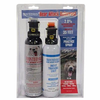 NEW Sabre 9.2 Oz Bear Spray + 7.9 Oz Practice Fbad-06-00