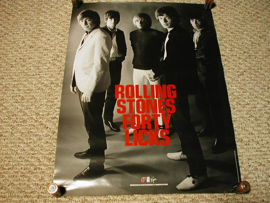 20 ROLLING STONES 2002 FORTY LICKS POSTERS 18x24 NEW NEVER DISPLAYED