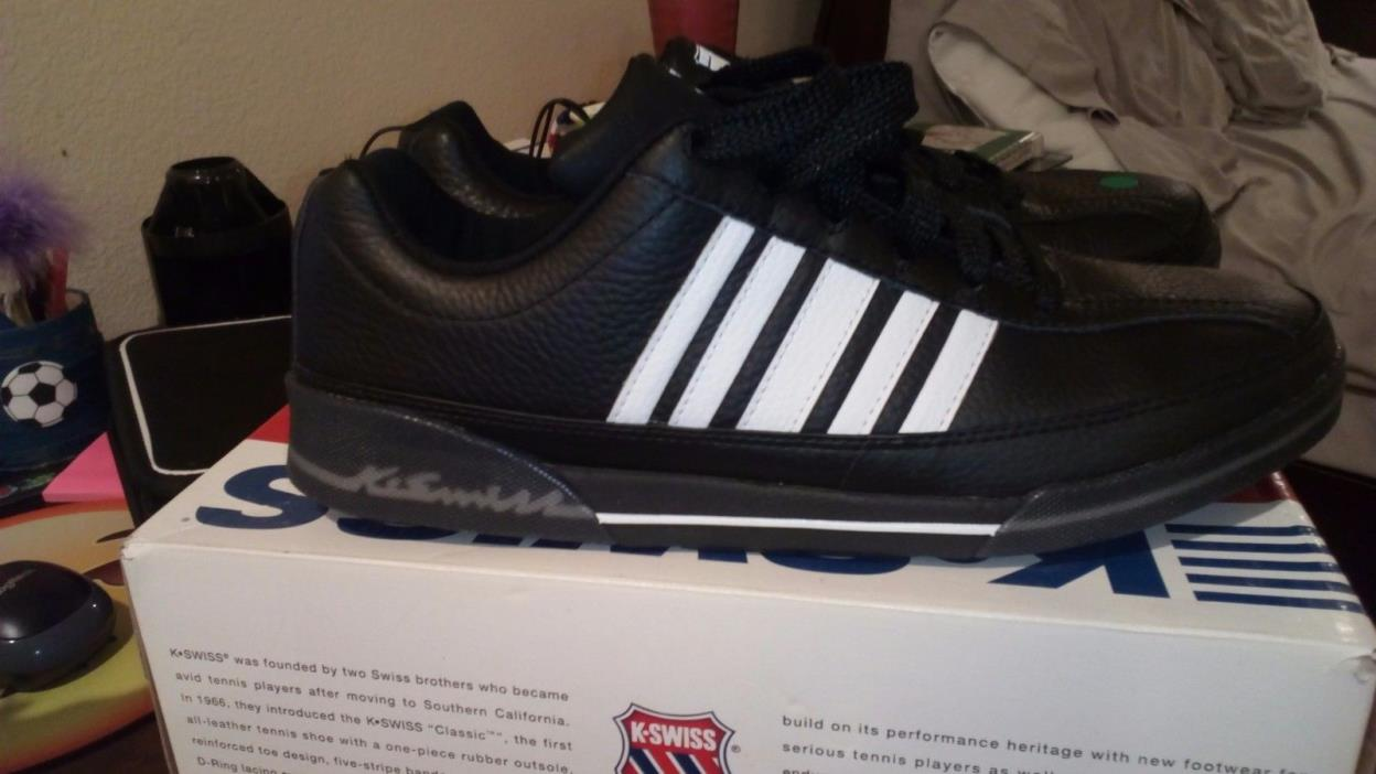 k swiss kenter size 10.5 men's. Brand New. Black/White.