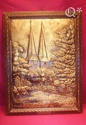 Antique Art hammering on copper  Zur gold Germany